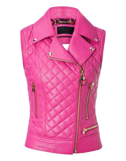 Leather Vest Short Higon