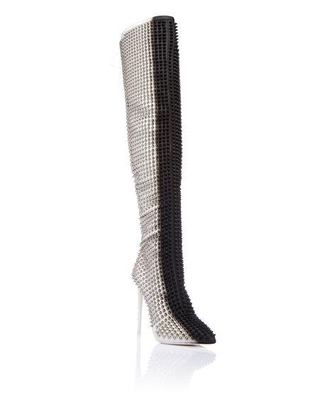 Boots Hi-Heels Overknees Woman fashion show