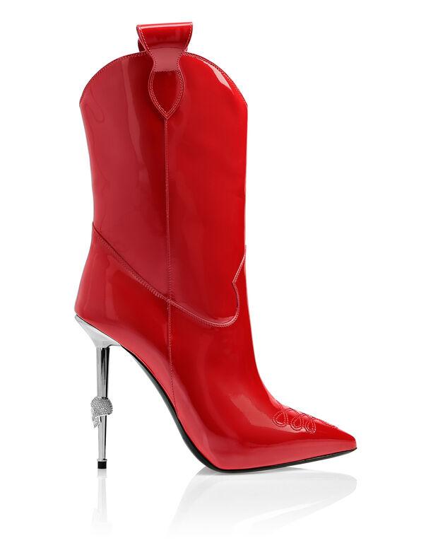 bootie high heels Cowboy
