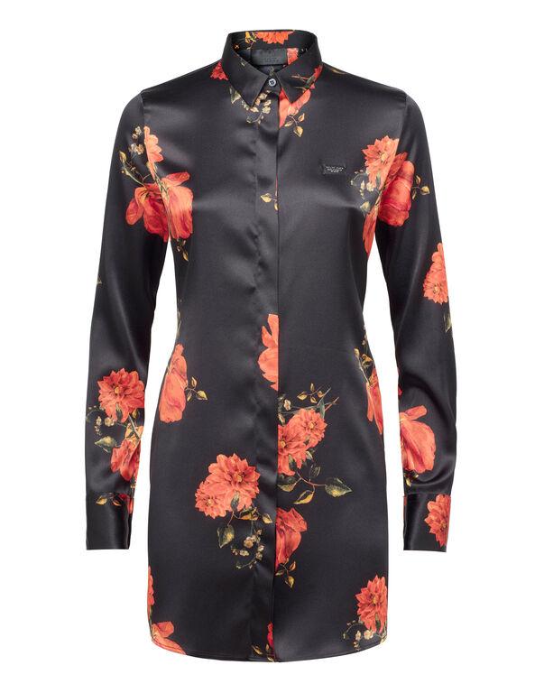 """Shirt """"Black And Roses"""" - Slim Fit"""
