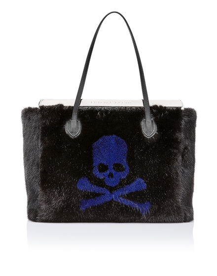 Top Handle Fur and Skull