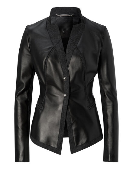 leather blazer all the day