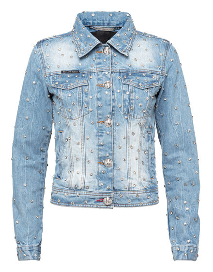 Denim Jacket Crystals Mind