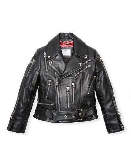 Leather Biker Ibbie Zipped