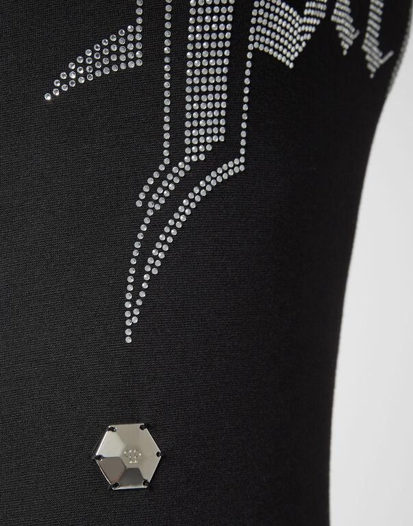 Long Dress Crystal Plein