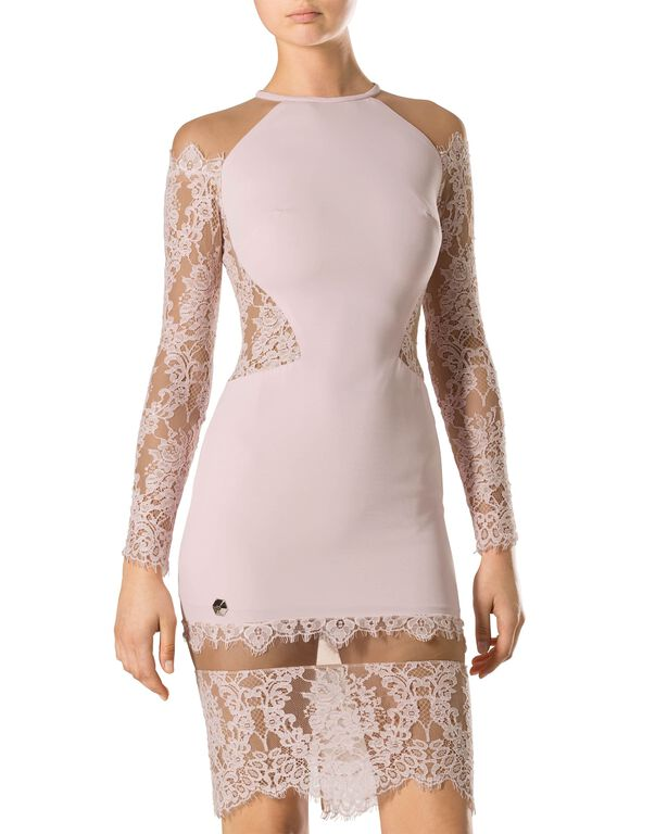 "Short Dress ""Laced Lack"""