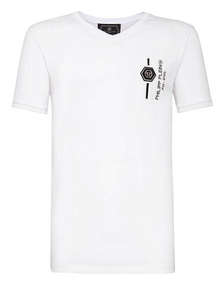 T-shirt Platinum Cut V-Neck Skull