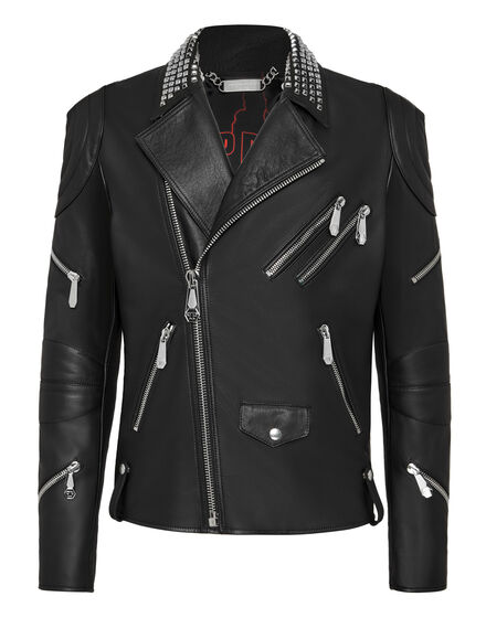 Leather Biker Skull and Plein