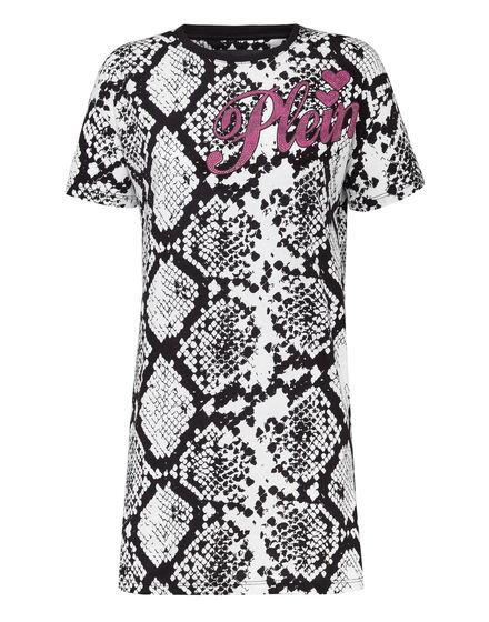 T-Shirt Short Dresses Python