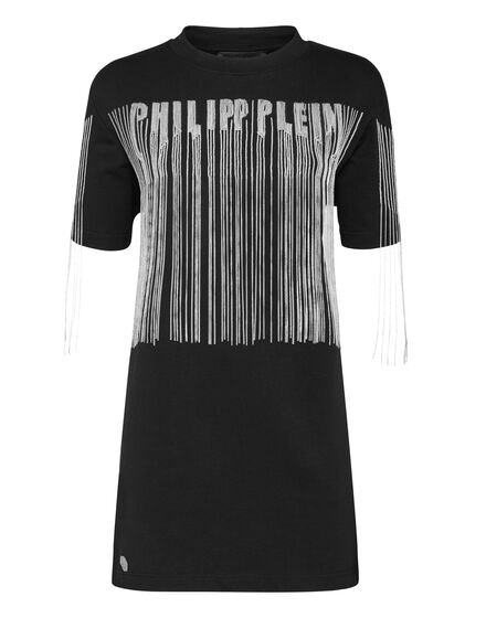 T-Shirt Short Dresses Fringe