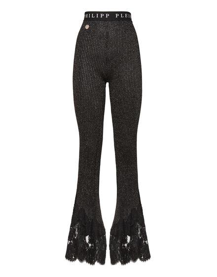Knit Jogging Trousers  Elegant Lace