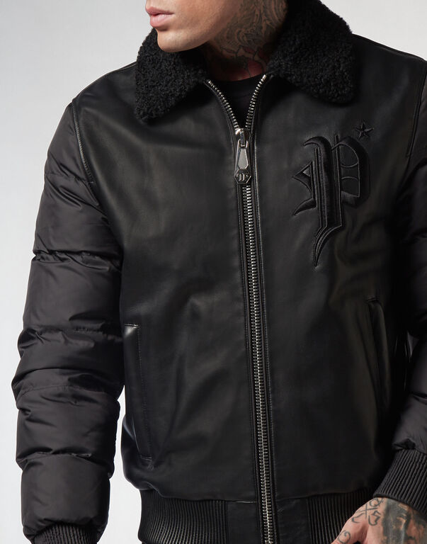 Leather Jacket  Gothic Plein