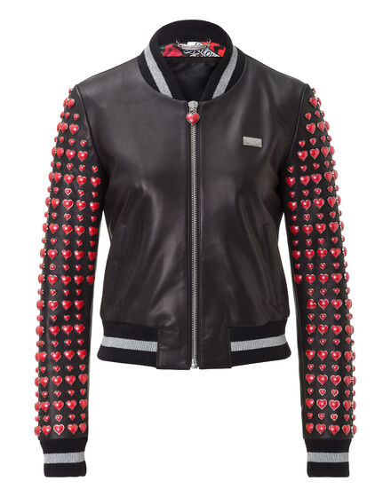 Leather Bomber El Lago