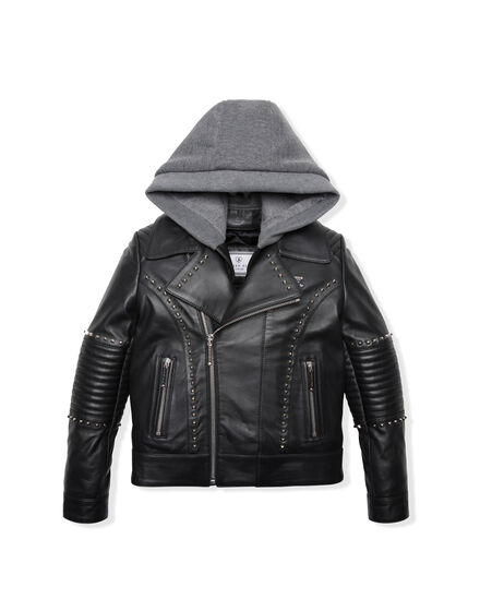 Leather Biker Robison