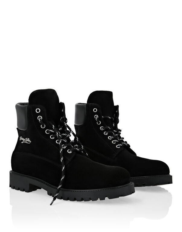 Calf Leather Boots Low Flat The Hunter