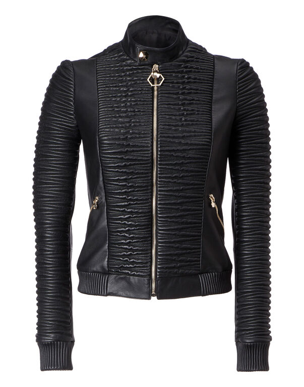 """Leather Bomber """"Broadway"""""""