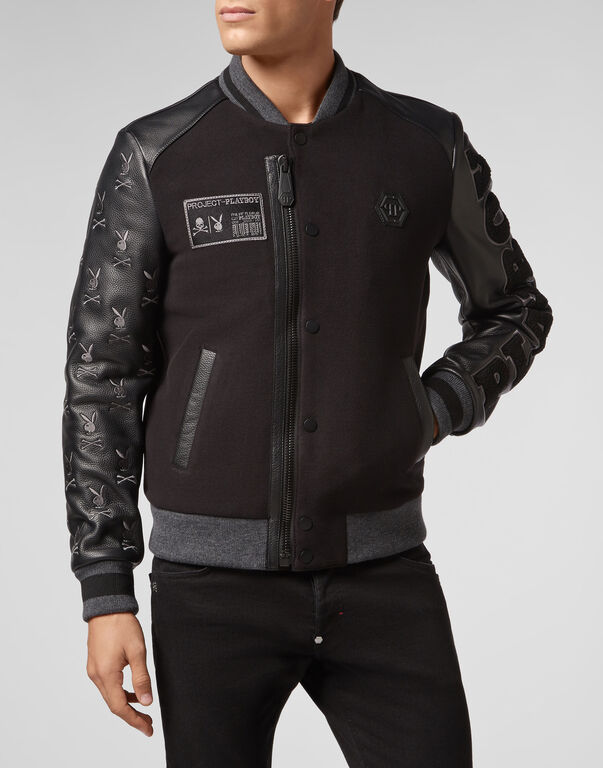 Leather Bomber Playboy