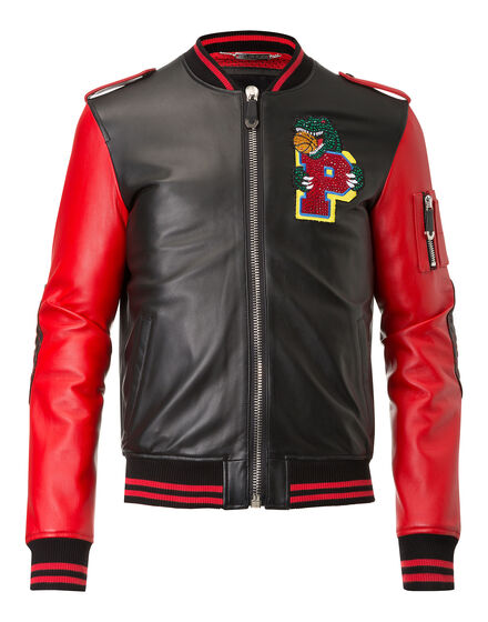 Leather Bomber Perceive