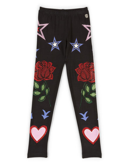 Leggings Black Rose