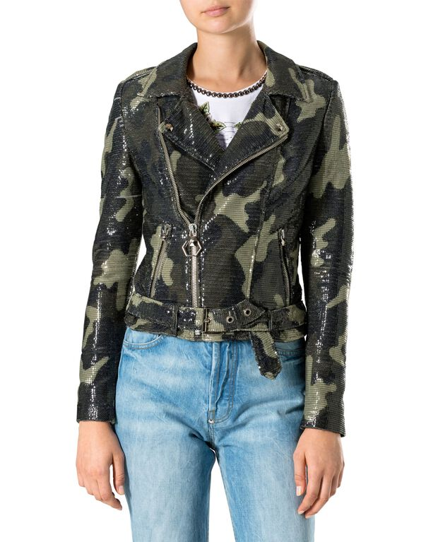 "Biker Jacket ""Pailettes Light"""