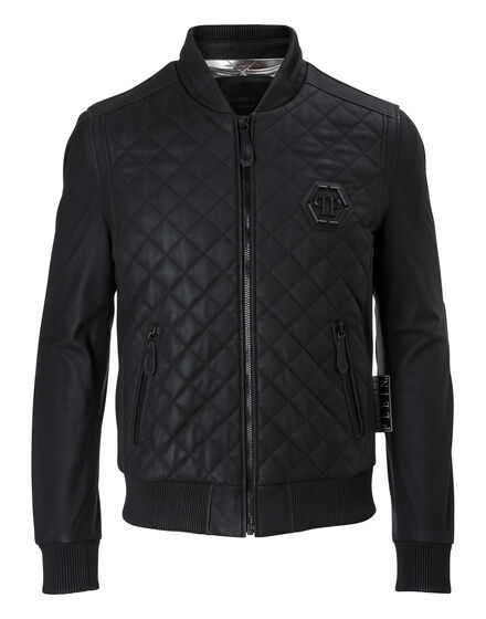 Leather Bomber Moon
