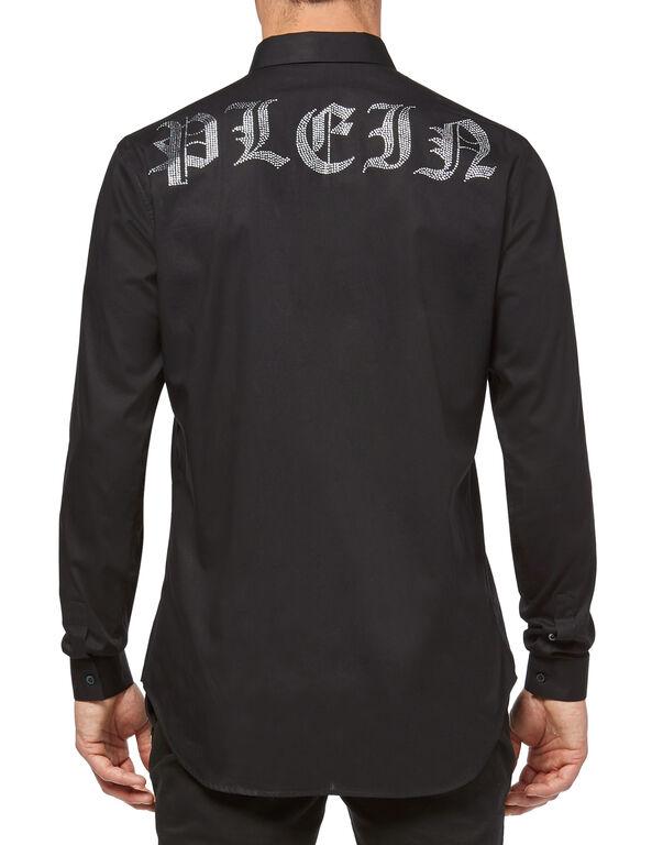 """Shirt Crystal cut LS """"Gothic"""""""