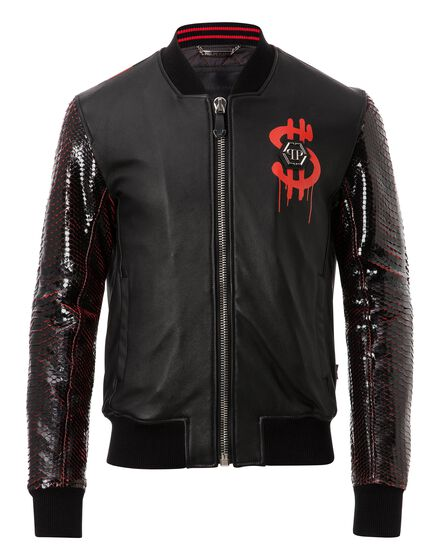 Leather Bomber Money and python