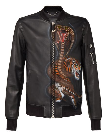 Leather Bomber Strange word