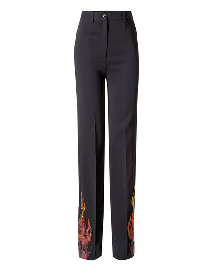 Embroidered  Long trousers Flames