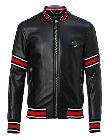 Leather Bomber That