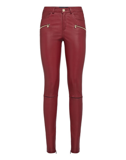 Leather Trousers Long Crazy Style