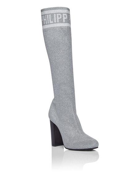 Boots Mid Heels Mid Lurex