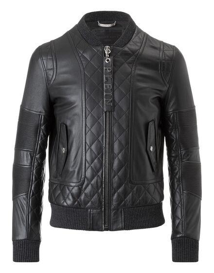 leather jacket wood king