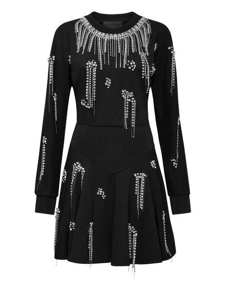 Jogging Dress Crystal Fringe