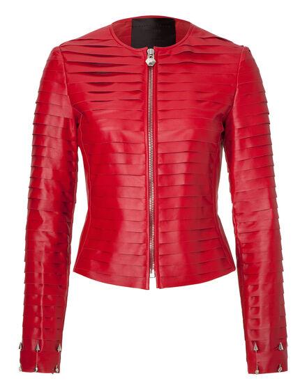 leather jacket element