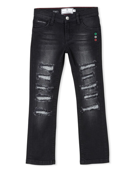 Denim Trousers Silver King