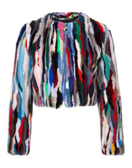Fur Jacket rainbow