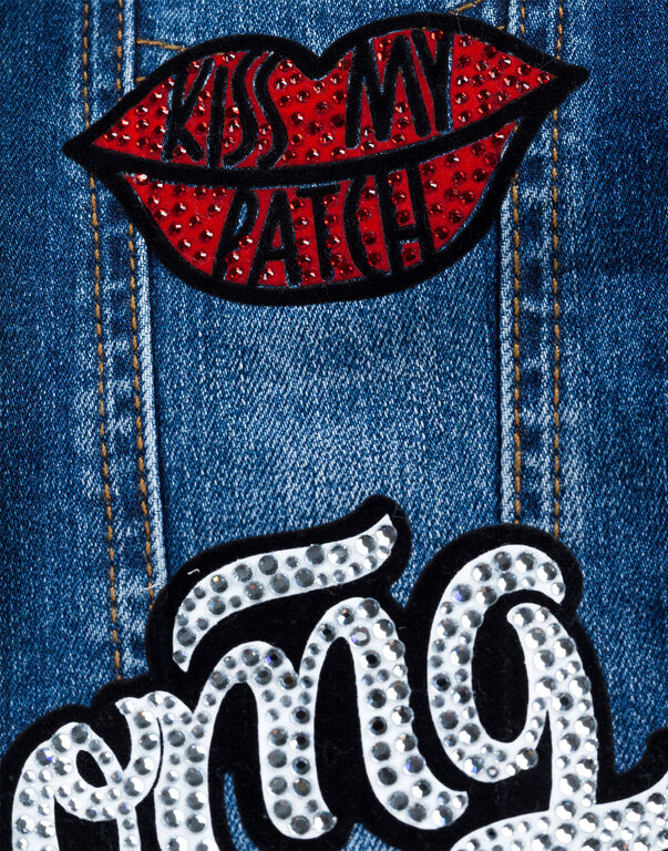 "Denim Jacket ""Omg Plein You"""