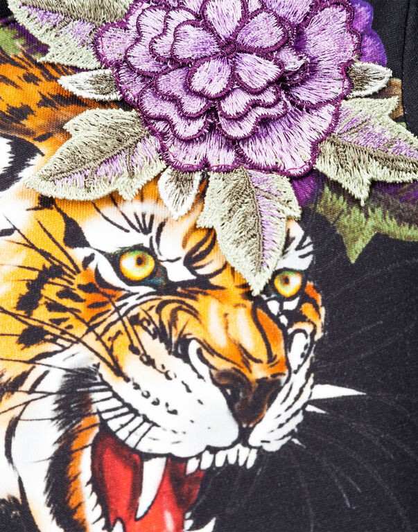 """T-shirt Round Neck SS """"Tiger roses"""""""