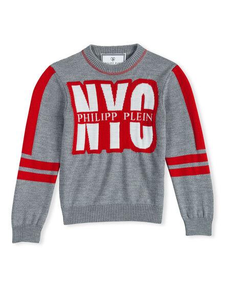 Pullover Round Neck LS New York Plein