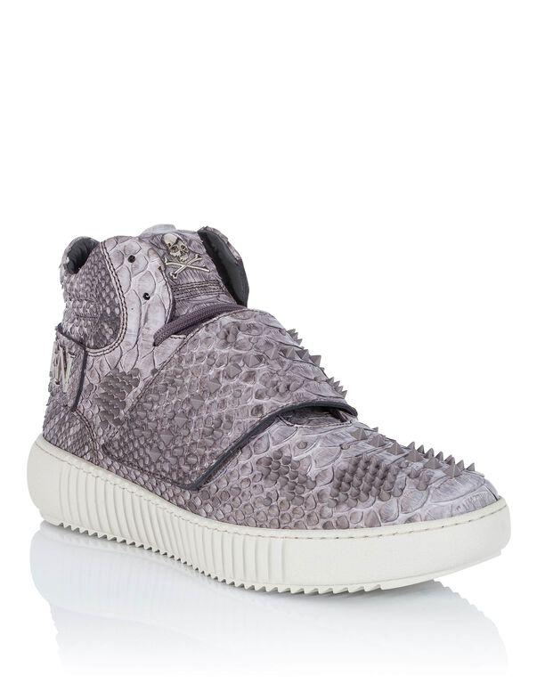 """Hi-Top Sneakers """"skull pink"""""""