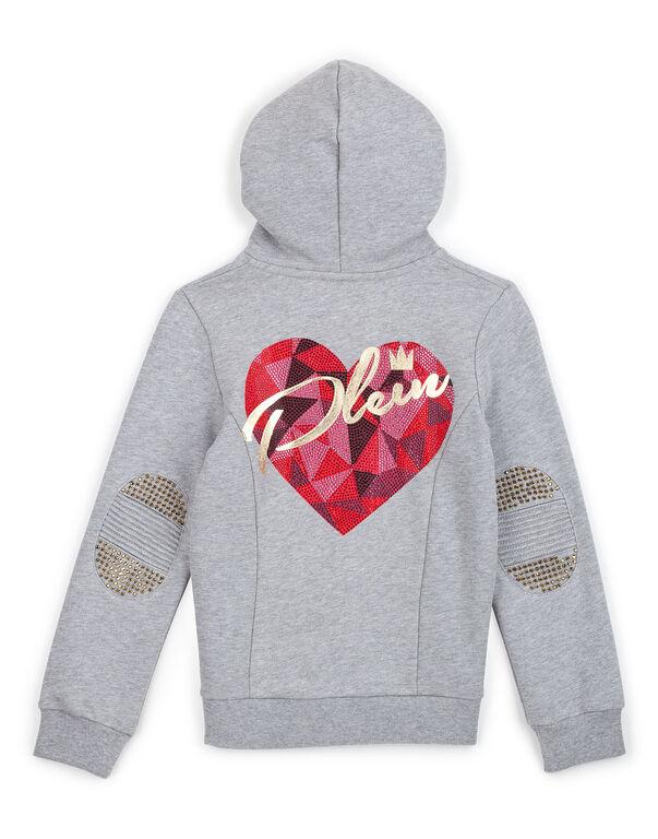 "Sweatjacket ""Crystal heart"""