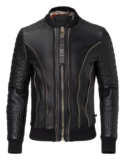 leather bomber common