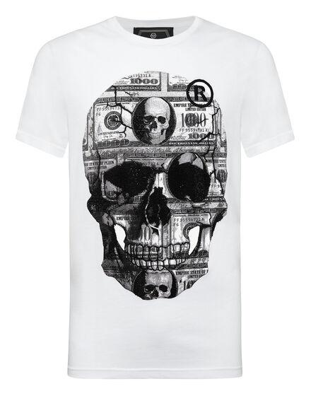 T-shirt Platinum Cut Round Neck Dollar