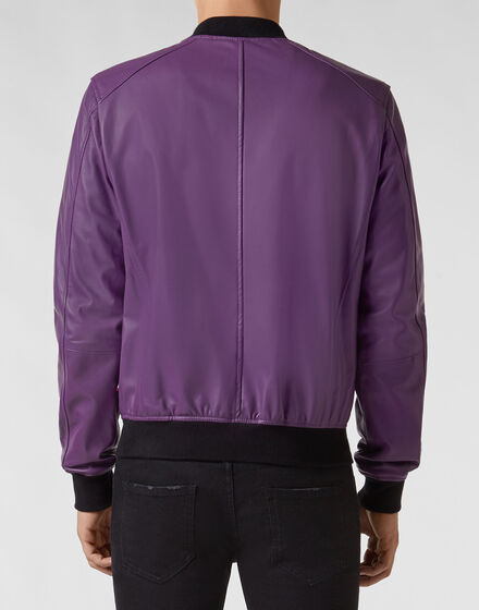 Leather Bomber Statement Leather Bomber Statement Leather Bomber Statement.  XL. Deep Purple. PHILIPP PLEIN 8235eb81131a