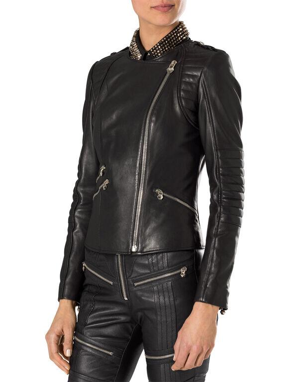 """leather jacket """"bat girl"""""""