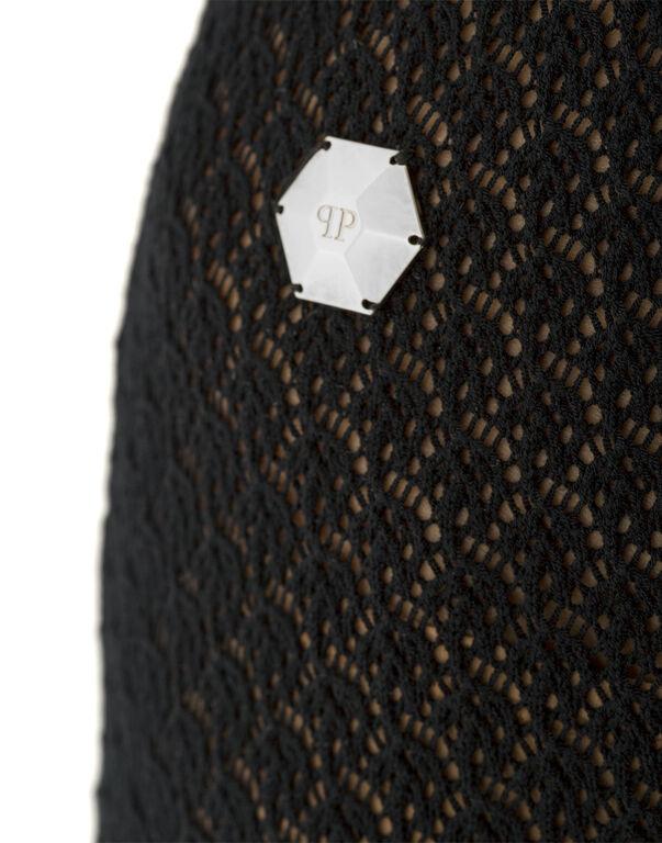 "Long knit dress ""Satureja"""