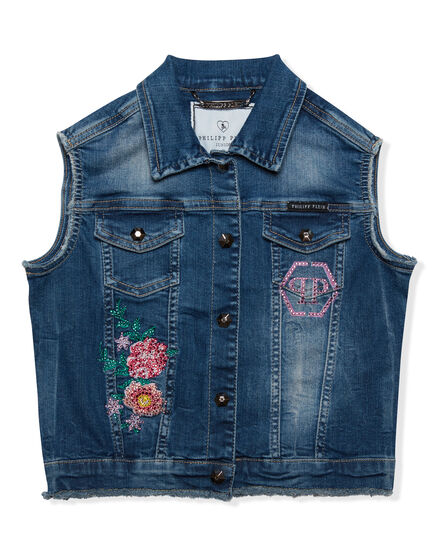 Denim vest Plein Girl