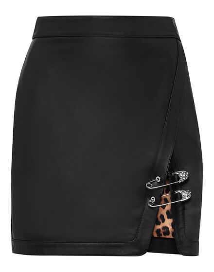 Leather Skirt Short Pins