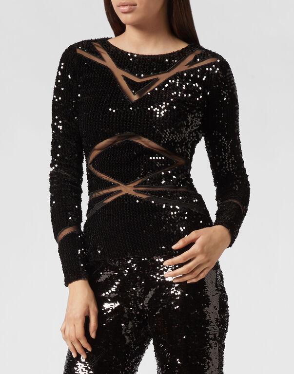 Pullover Round Neck LS Elegant